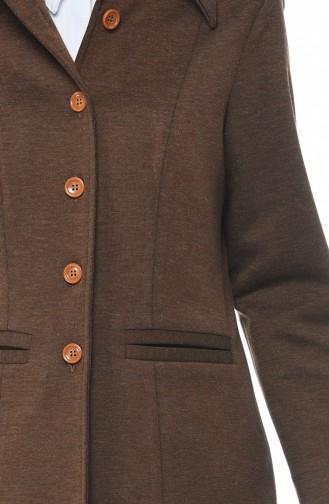 Ensemble Deux Pieces Veste Pantalon a Boutons 5009-01 Couleur Cannelle 5009-01