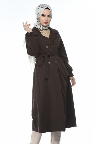 Trench Coat Couleur Brun 1260-06