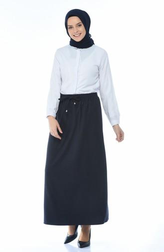 Navy Blue Skirt 1136-02