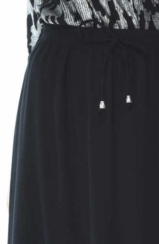 Waist Elastic Skirt Black 1141-01