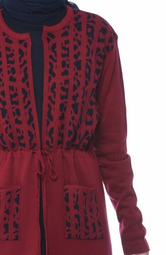 Ensemble deux Pieces Gilet Robe 0613-05 Bordeaux 0613-05