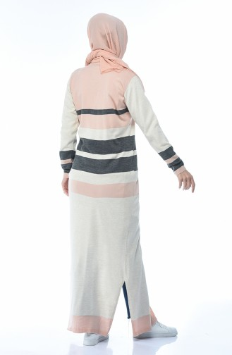 Tricot Buttoned Long Cardigan Powder 2271-06