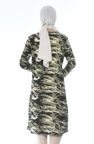 Kamuflaj Desenli Desenli Hırka 7936-01 Asker Yeşili 7936-01