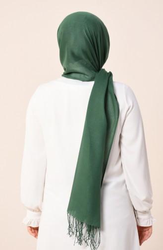 شال قطني سادة أخضر 490-103