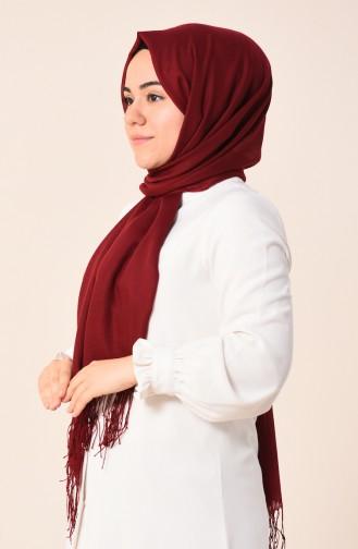 شال قطني سادة أحمر كلاريت 490-107