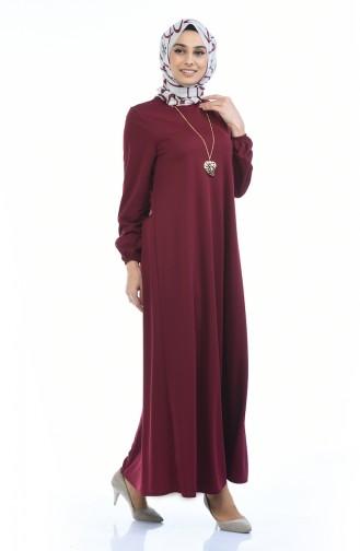 فستان أحمر كلاريت 0103-01