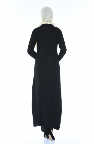 Slash Tricot Long Tunic Black 0700-01