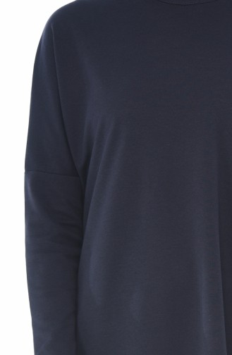 Bat Sleeve Long Tunic Purple 7943-02