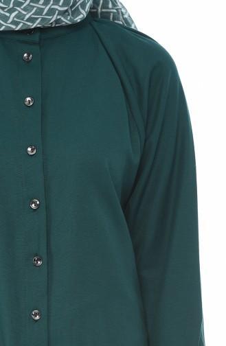 Smaragdgrün Tunikas 3107-07