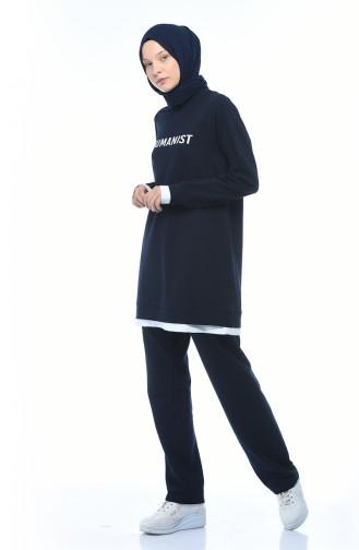 بيجامة الرياضة أزرق كحلي 9118-02