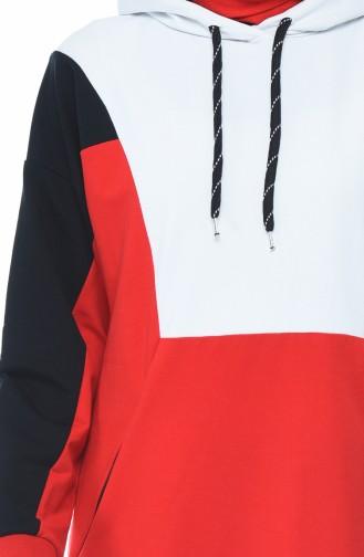 بدلة رياضية بقبعة كحلي وأحمر 3481-02