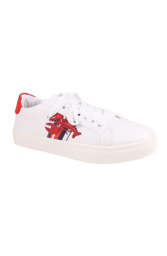 White Sport Shoes 01