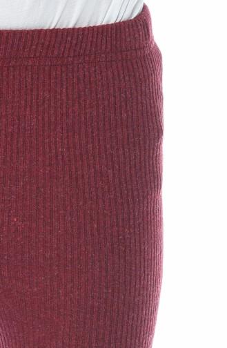 بنطال بخصر مطاطي أحمر كلاريت 4079-03