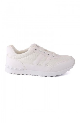 White Sport Shoes 2207Y-01
