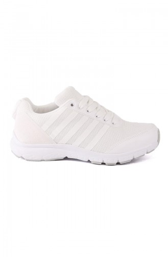 White Sport Shoes 6237Y-04