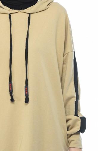 بدلة رياضية بقبعة بيج 0744-03