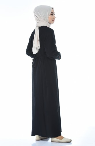 Robe Brodée 0074-02 Noir 0074-02