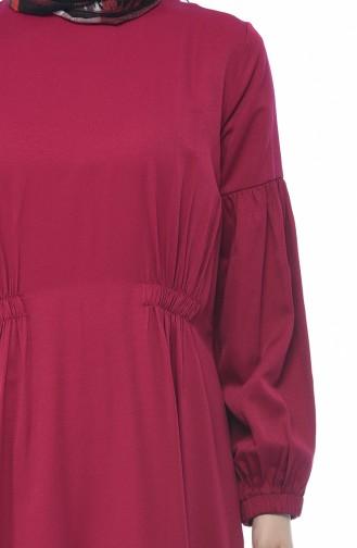 Robe Manches élastique 8003-03 Fushia 8003-03