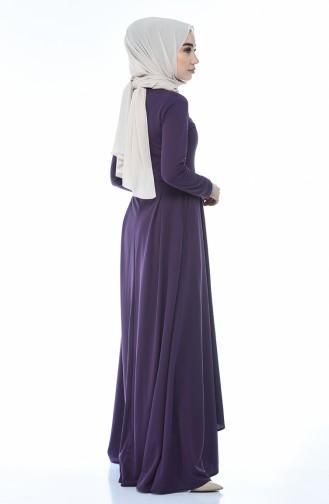 فستان ب طيات بنفسجي 1955-03