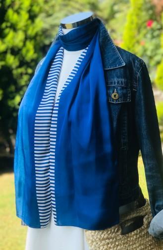 Patterned Rayon Scarf Navy Blue 54085-01