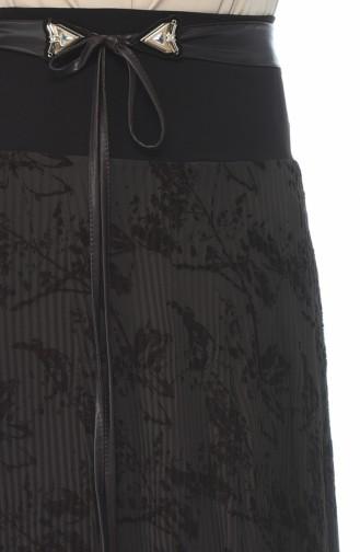 Piliseli Dantelli Etek 6K2616205-02 Kahverengi