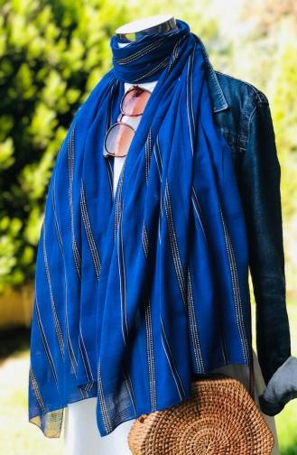 Patterned Cotton Shawl Blue 54116-01