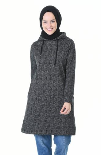 Hooded Winter Sweatshirt Black 9146A-01