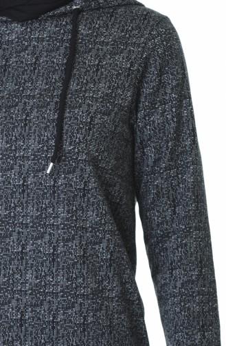 Kapüşonlu Kışlık Sweatshirt 9146A-01 Siyah 9146A-01