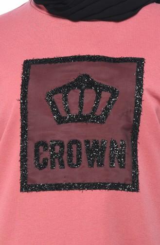Silvery Sweatshirt Rose Dried 0746-02