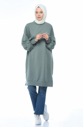 Bat Sleeve Sweatshirt Green Almond 0767-02