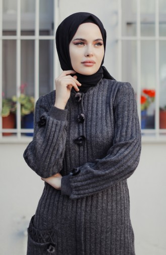 Pocket Tricot Cardigan Anthracite 35878A-02