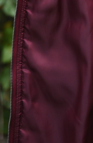 Hooded Quilted Coat Bordeaux 35851-03