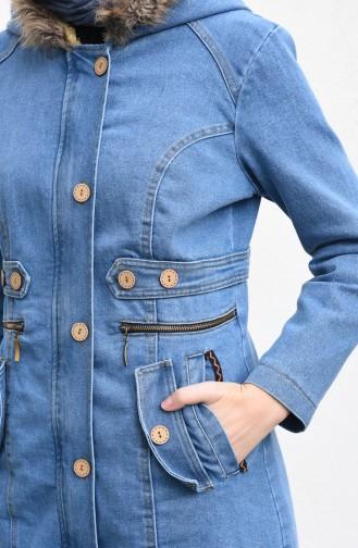 Hooded Denim Cap Jeans Blue 9572-01