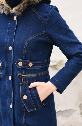 Jeans Blau mit Kapuze 9572-02 Dunkelblau 9572-02