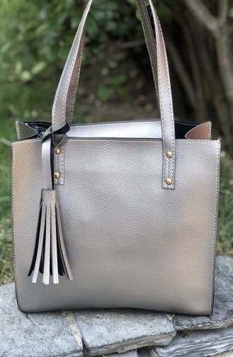 Silver Gray Shoulder Bag 01-03