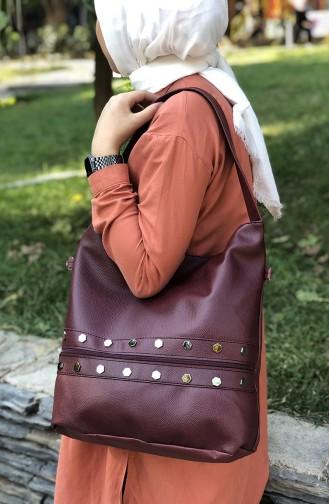 Claret red Shoulder Bag 06-02