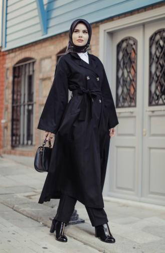 Black Trench Coats Models 9034-01