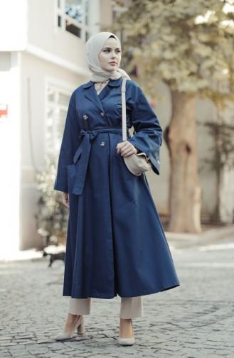 Navy Blue Trench Coats Models 9034-03
