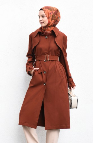 Trench Coat a Ceinture 90005-02 Tabac 90005-02
