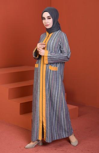 Gray Abaya 4501-03