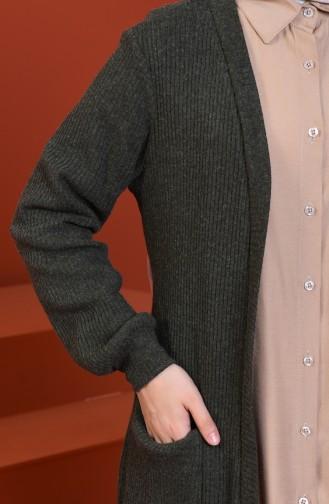 Tricot Cardigan Khaki 1301-02