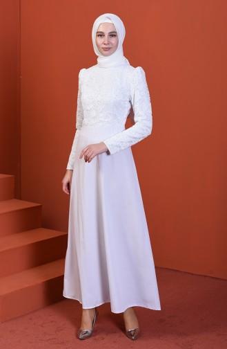 فستان أبيض 3104-04