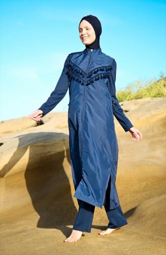 Maillot de Bain Hijab 1998-01 Bleu Marine 1998-01