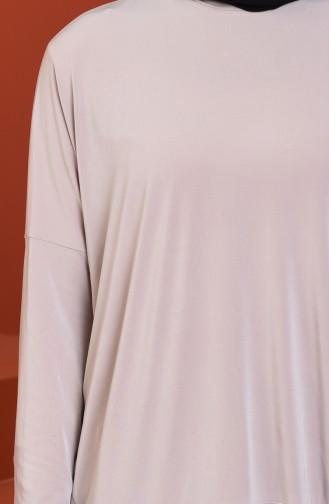 Bat Sleeve Sandy Tunic Beige 5002-01