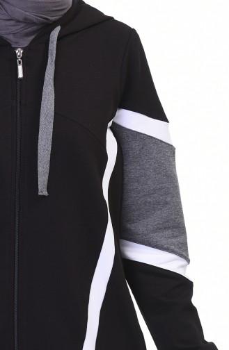 بدلة رياضية بسحاب أسود 9108-03