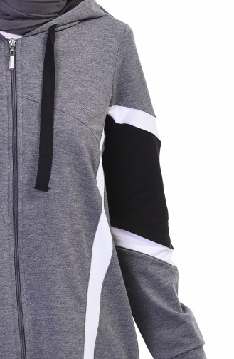 Zippered Tracksuit Set Light Anthracite 9108-05