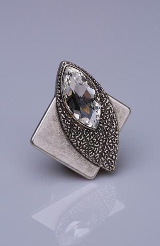 Kristal Gümüş Kaplama Mıknatıslı Broş 05-0931-48-12
