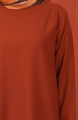 Tunik Pantolon İkili Takım 5247-09 Koyu Kiremit 5247-09