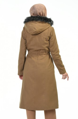Beli Büzgülü Kaban 9011-01 Camel