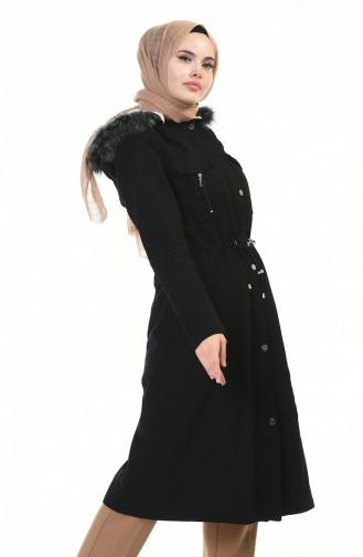معطف طويل أسود 9011-04
